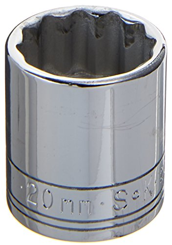 SK Hand Tool 2320 12 Point 20mm Standard Drive Socket, 3/8-Inch, Chrome