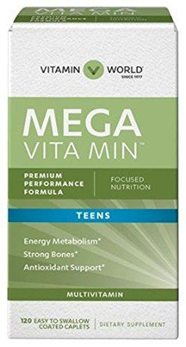 Vitamin World Mega Multivitamin for Teens 120 coated caplets For Sale