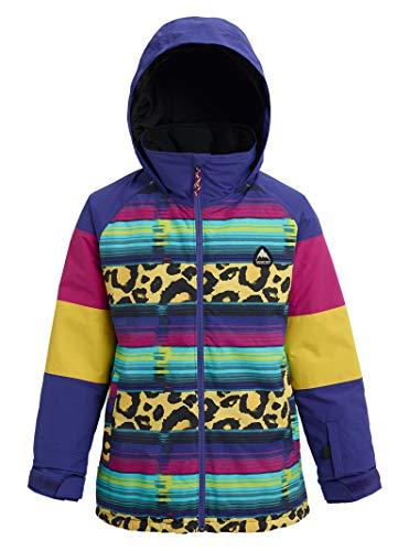 Burton Girls' Hart Jacket, Medium, Leopardy Cat Multi, - Taffeta Pouch