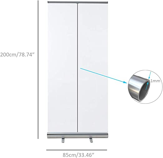 TANKKWEQ Office Isolation roll-up Banner Safety Face Shields Portable Clear Pull Up Banner Screen,Sneeze Guard Barrier,Partition Germ Shield Divider,Social Distancing Cashiers Cafes Businesses
