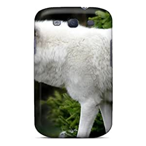 Tpu Case Cover For Galaxy S3 Strong Protect Case - Lobo Blanco Design