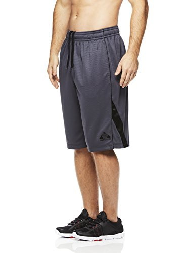 Above The Rim Men's Basketball Short Performance Mesh Athletic Workout Gym Shorts - Squad Short - Ebony, Small (Silk Basketball Shorts)
