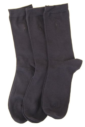 RALPH LAUREN Rl Sport Trouser Sock 3 Pair Pack (7125) (Black)