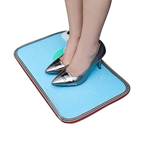 Studyset Charging Adjustable Temperature Warm Foot Toes Carpeted Foot Warming Heater for Under Desks and More