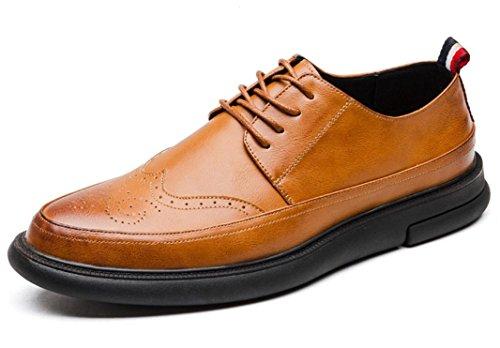 Mlsopx Yellow Vestir Transpirables 41 Hombre Zapatos De Cuero Negocios Para vv8rTf
