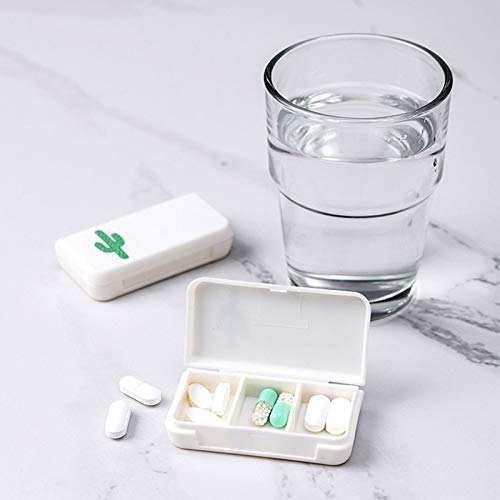 Nrpfell Mini Pill Case Portable Medicine Boxes 3 Grids Travel Home Medical Drugs Tablet Empty Container Storage Box
