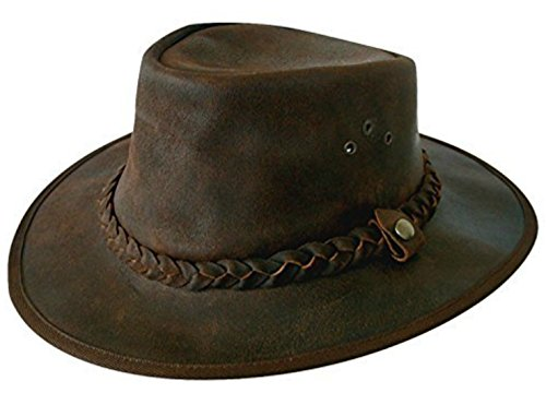 5657856bf47 Cotswold Country Hats Explorer Brown Leather Bush Hat from Small