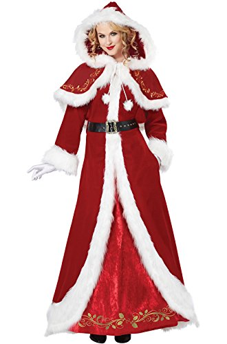 Deluxe Mrs Santa Costume (California Costumes Women's Mrs. Claus Deluxe Adult, Red/White, XX-Large)