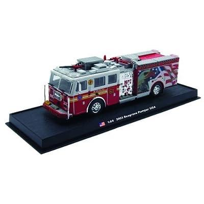 Seagrave Pumper Fire Truck Diecast 1:64 Model (Amercom GB-6): Toys & Games