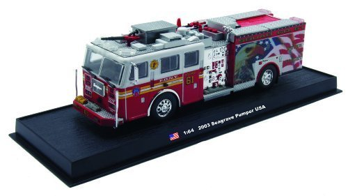 Seagrave Pumper Fire Truck Diecast 1:64 Model Amercom Collection (Diecast Fire Engine)