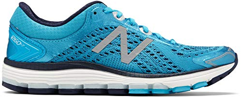 New Balance Women's 1260v7 Running Shoe, Bright Blue, 8.5 2A US