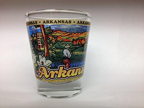 Arkansas Shot Glass - Arkansas State Wraparound Shot Glass
