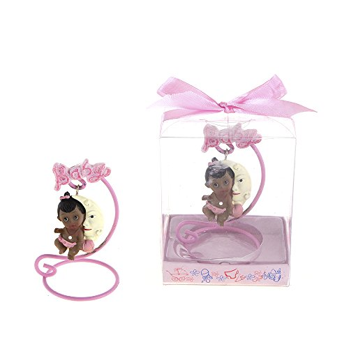 "Lunaura Baby Keepsake - Set of 12 ""Girl"" Black Ethnic Bab..."