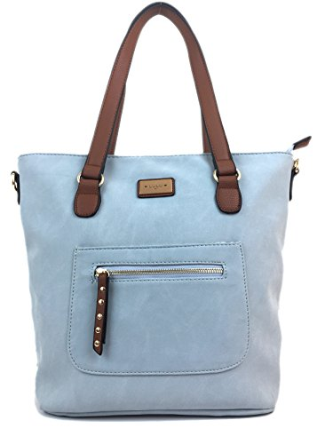 Amy Bag Shoulder Blue Sky Tote for Italian Strap amp; Adjustable Ladies Free Styled Shipping Handbag with Beautiful Detachable PxqrwBP