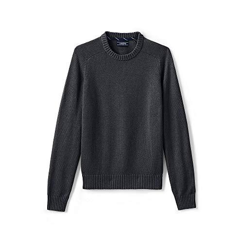 Lands End Mens Drifter Cotton Crewneck Sweater