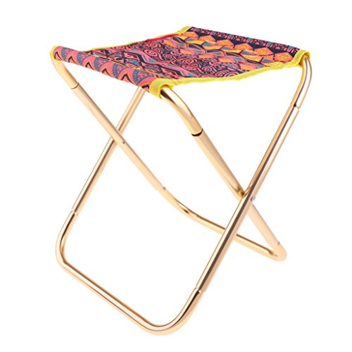 MagiDeal Outdoor Camping Folding Stool Chair Seat Fishing - Flower by Unknown
