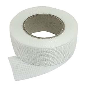 Sourcingmap a12032900ux0377 - Blancas de fibra de vidrio autoadhesivas cinta de malla de conjunto para agujeros grietas