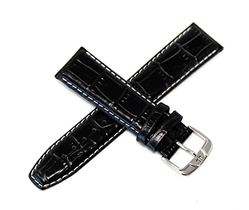 Watches Men Jacques Lemans - Jacques Lemans 22MM Alligator Grain Genuine Leather Watch Strap 7.75
