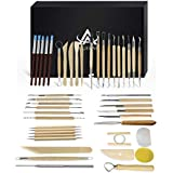 8 Pack Pottery Tools, HityTech Stainless Steel...