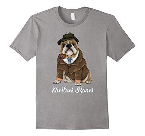 Sherlock Bones Bulldog Dressed Up As Sherlock Holmes T-Shirt