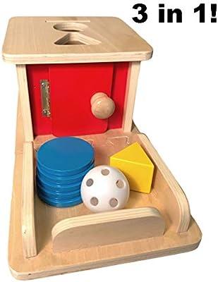 Ball Matching Box+Coins Piggy Bank Wooden Toys Kids Montessori Early Develop