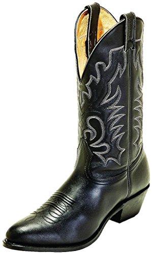 Bottes américaines - santiags: bottes country BO-6701-672-E (pied normal) - Homme - Noir