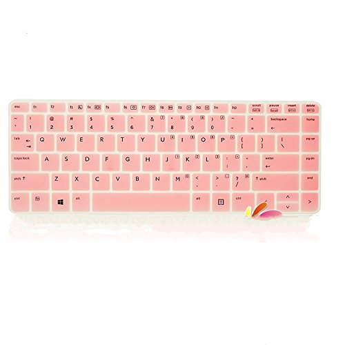 Leze Silicone Laptop Keyboard Cover Skin Protector for HP ProBook 430 G1, 440 G1, 445 G1, 640 G1, 645 G1 Series Us Layout Semi-Pink
