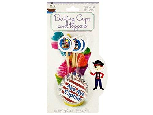 Bulk Buys HW766-12 Kids Cupcake Baking Cups Toppers Set, 12 Piece