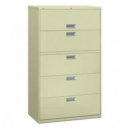 Five Drawer 42 Quot Wide Lateral File Cabinet Putty