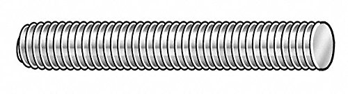 1''-14x6 ft, Threaded Rod, Steel, Low Carbon, Zinc Plated