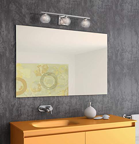 Feiss VS19703-BS Concord Glass Wall Vanity Bath Lighting, Satin Nickel, 3-Light 21 W x 10 H 300watts