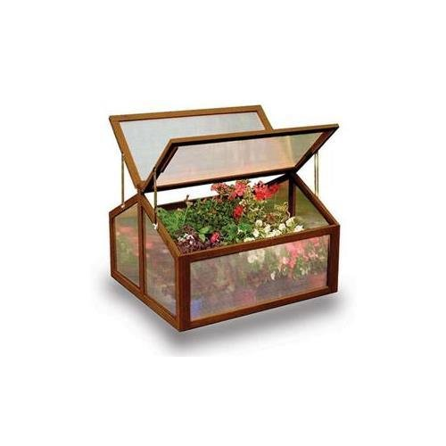 Gardman 7650 Large Wooden Cold Frame Greenhouse with FSC Timber – 11†L x 2' 7†W x 1' 11†H