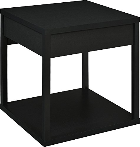 Parsons End Table With Drawer: Parsons End Table With Drawer, Black