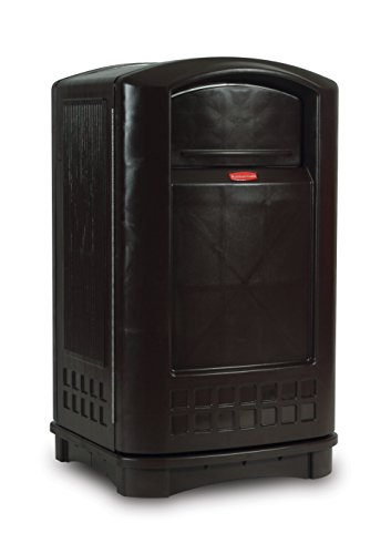 Rubbermaid Commercial Plaza Trash Can with Swing Doors, 50 Gallon, Black, FG396400BLA (Trash Can Smokers)
