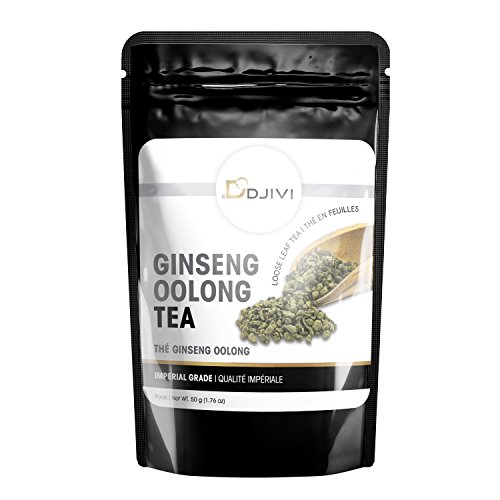 Dodjivi Ginseng Oolong Tea Imperial Grade Oolong Loose Leave Tea - Wu Long Premium Specialty Tea - Unique Taste & Aroma - 50g