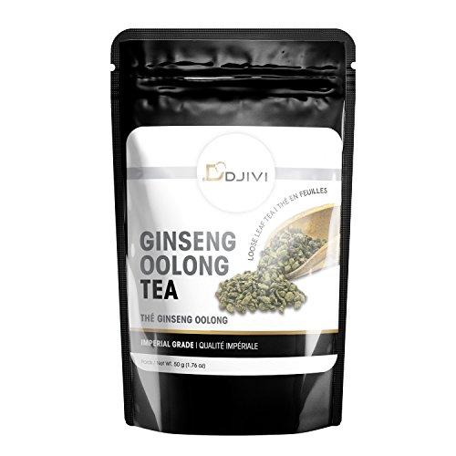 Dodjivi Ginseng Oolong Tea Imperial Grade Oolong Loose Leave Tea - Wu Long Premium Specialty Tea - Unique Taste & Aroma - 50g