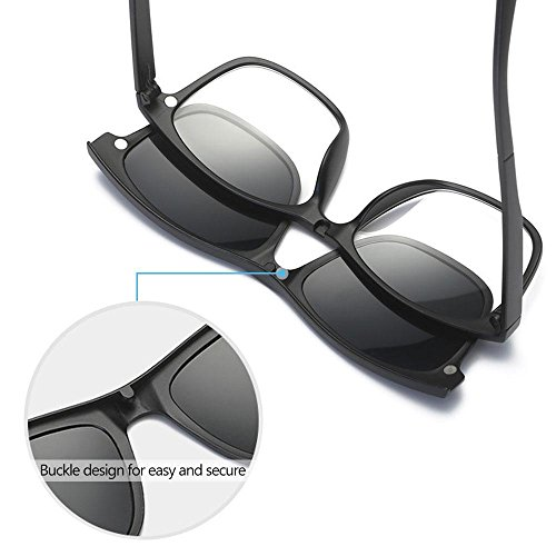 oz Vacaciones Lentes Flexible para Gafas 6 5 magnéticas 0 Correr polarizadas Conducir con Marco Unisex Aolvo de Sol dqTOFn88P0