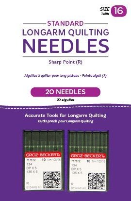 (Handi Quilter Longarm Quilting Needles - Standard Sharp Point (R) Size 16 (Pack of 20))
