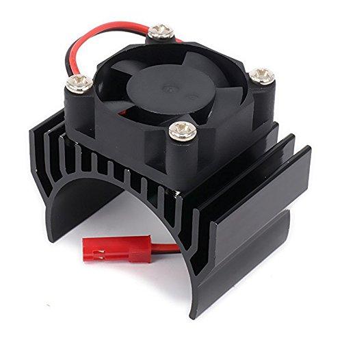SODIAL(R) Heatsink Motor 540 550 with Fan Cooling Head Vent Top 6v JST Alloy Aluminum for 1/10 RC Hobby Model Car 1Pcs(Black) (Cooling Head Aluminum Heatsink)