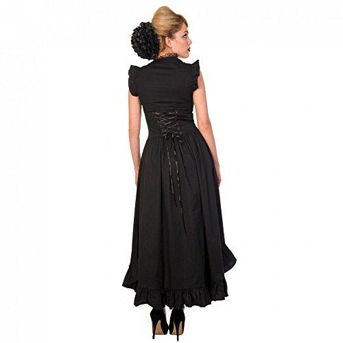 Banned femme steampunk gothique/maxi robe sans manches-victorian copper robe noir