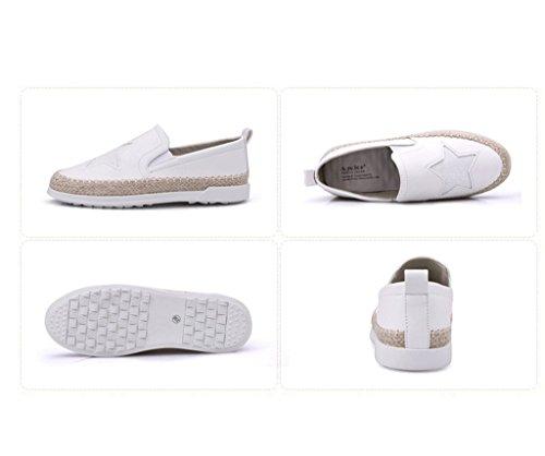 Pigri Casual In Pelle Moda Bianco Estive Di Pattini Pantofole Studente Scarpe Scarpe Signore pIdxCwCqg