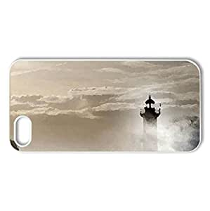 Crashing Wave - Case Cover for iPhone 5 and 5S (Lighthouses Series, Watercolor style, White)