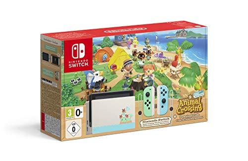 Nintendo Switch HW – Consola Edición Animal Crossing – Verde/Azul