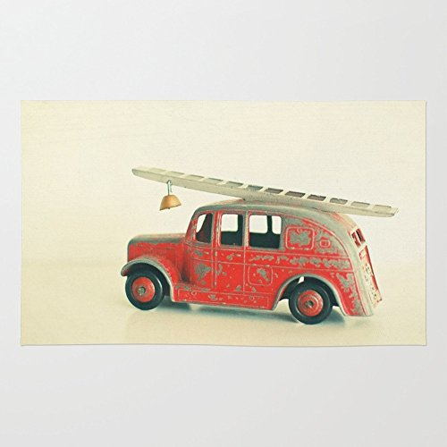 Society6 Red Fire Engine Rug 4' x 6'