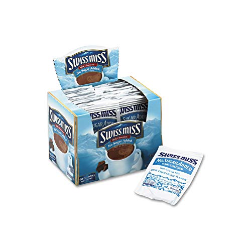 - Swiss Miss Hot Cocoa Mix, Milk Chocolate, No Sugar Added, Value Size 2 PackK sqzx( 50 Count Envelopes Each)