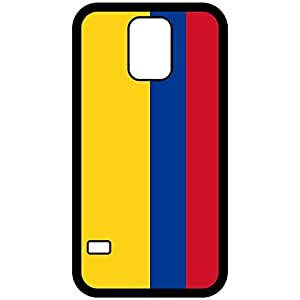 Colombia Flag Black Samsung Galaxy S5 Cell Phone Case - Cover