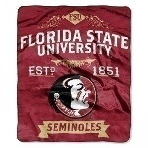 Northwest Company Florida State Seminoles Blanket 50x60 Raschel Label Design