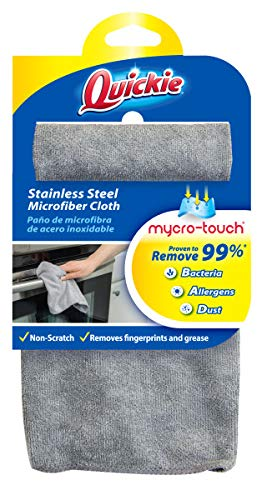 Quickie Microfiber Cleaning Cloth, Single, Grey
