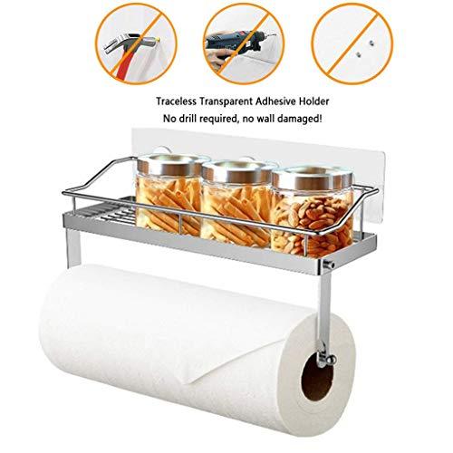 (Beyonds 2-shlf Bathroom Shelf [Drill-Free/Load-Bearing/Corner Storage/no Space] Paper Towel Holder Suction Wall Bathroom Rack Bathroom Shelf Bathroom Wall Mounted Tripod Toilet Storage Rack)
