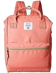 Japan Anello Backpack Unisex LARGE CORAL PINK Rucksack Waterproof Canvas Bag Campus